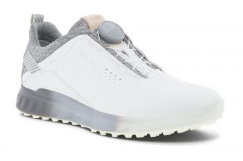 ecco Golf S-Three Boa (Damen, Weiß/Grau) Golfschuhe