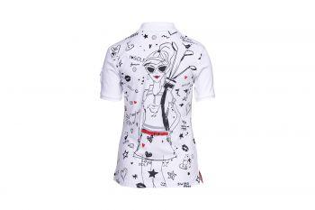 Girls Golf Swing Ya Little Birdie (Weiß) Poloshirt