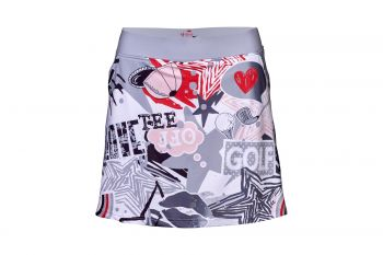 Girls Golf Resort Skort Golf Love (Weiß/Rot) Rock