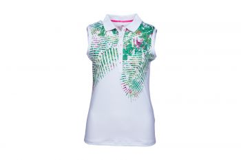 girls golf Jungle White ohne Arm Poloshirt