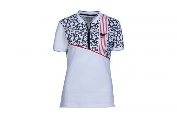 girls golf Divided Blue Stars Poloshirt