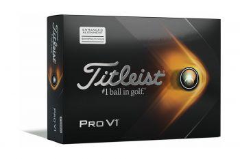 Titleist Pro V1 2021 Enhanced - Alignment Golfbälle-Weiß-12-Pack