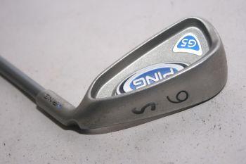 Ping G5 (Stiff, Graphit, +0.5 inch, 0.75° upright (Blue Dot)) Eisen 6