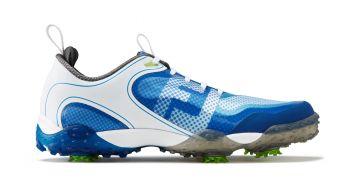 Footjoy Junior Freestyle (Kinder, Weiß/Blau) Golfschuh