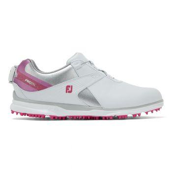 Footjoy Pro SL (Damen, Boa, Weiß/Rosa) Golfschuh