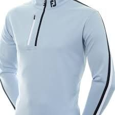 Footjoy Sleeve 1/2 Zip (Herren/Blau gestreift) Midlayer