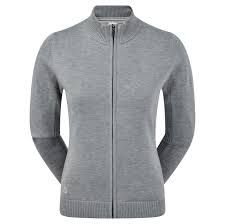 FootJoy Wollpullover (Damen, Full Zip, dunkelgrau) Windbreaker