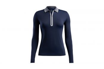G/Fore FEATHERWEIGHT ZIP Langarm Poloshirt