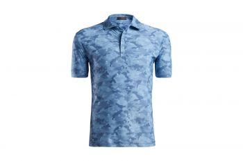 G/Fore Camo Printed Pique Poloshirt