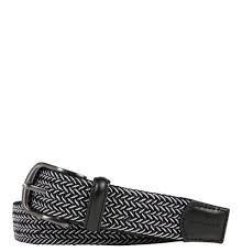 Brax Belt (Herren, anthrazit-grau) elastischer Flechtgürtel