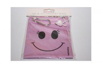 Girls Golf Tee Bag (Smiley)
