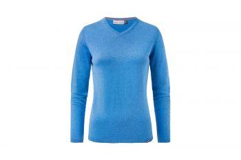 KJUS Kicki V-Neck (Damen, Azure Blau) Pullover