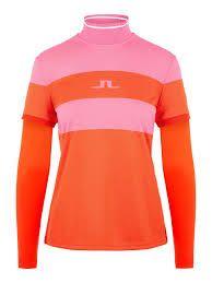 J.Lindeberg Mila longsleeve top (Damen, Pink-Orange) longsleeve