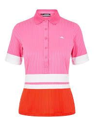 J.Lindeberg Nina Golf Polo (Damen, Pink-Orange) Poloshirt