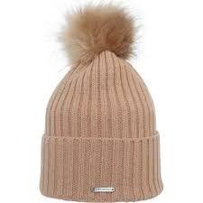 Röhnisch Pompom Beanie (Damen, Braun) Mütze