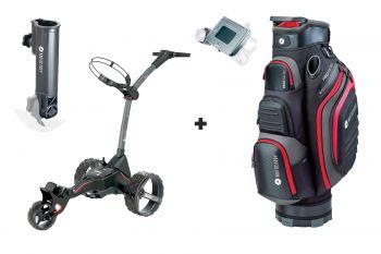 Motocaddy M1 DHC + Cartbag + Score- und Regenschirmhalter - MEGADEAL