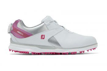 FootJoy Pro SL BOA (Damen, Weiß/Rosa) Golfschuh