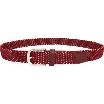 Alberto Textilgürtel geflochten (Damen, rot-grau) Stretch Gürtel