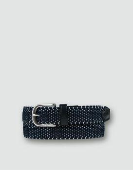 Alberto Textilgürtel geflochten (Damen, schwarz) Stretch Gürtel