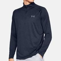 Under Armour Longsleeve 1/4 Zip (Herren, Blau) Shirt
