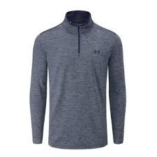 Under Armour Longsleeve 1/4 Zip (Herren, Blau-meliert) Shirt