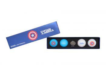 Volvik Motivball Marvel Geschenkset - Captain America
