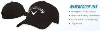 Callaway Waterproof (Schwarz) Golfkappe