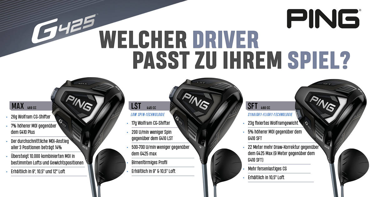 Ping G425 Serie Übersicht